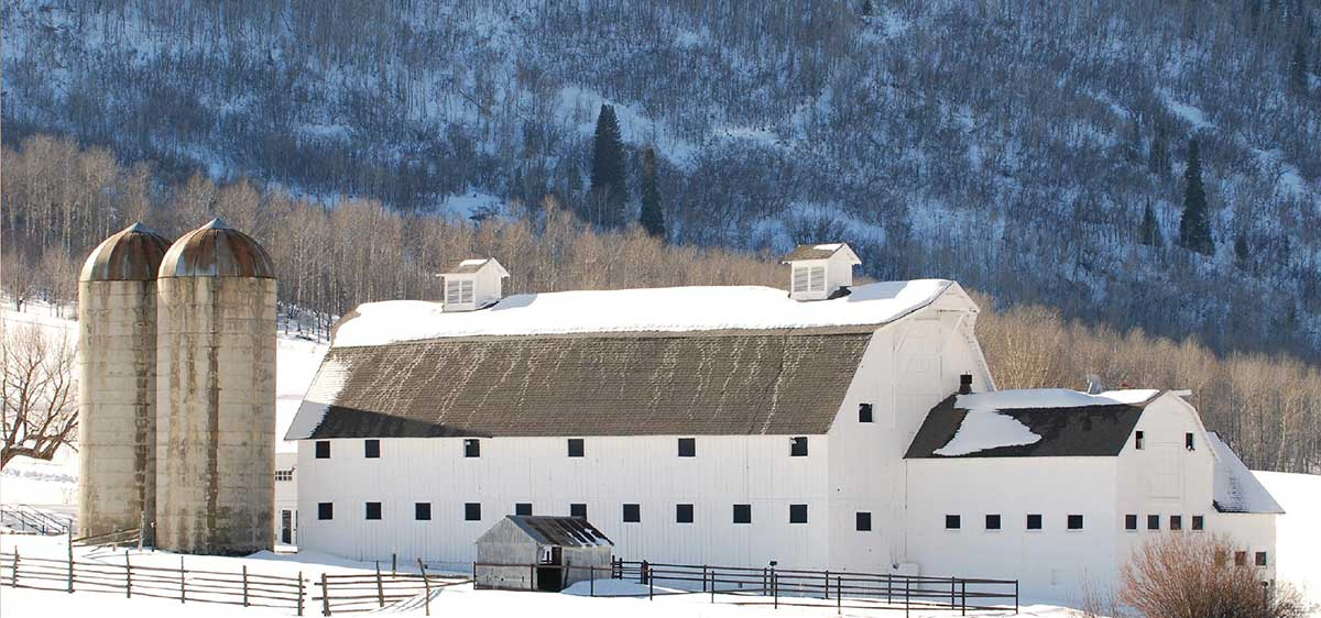 Winter Barn Home