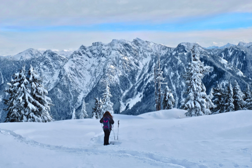 Breathtaking Views While Snowshoeing