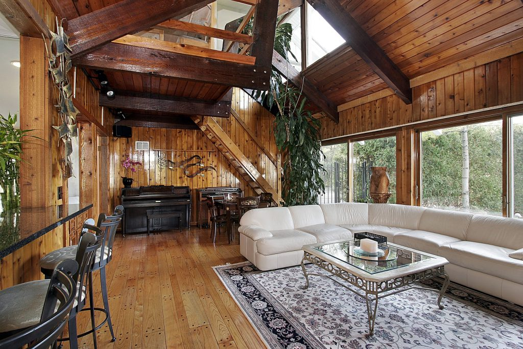 wood-paneled-family-room