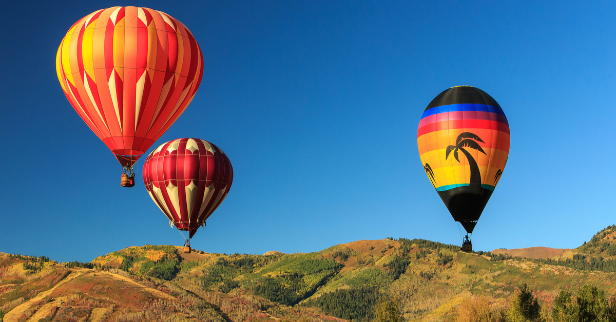 Park City Hot Air Balloon Ride at Wasatch Mountains