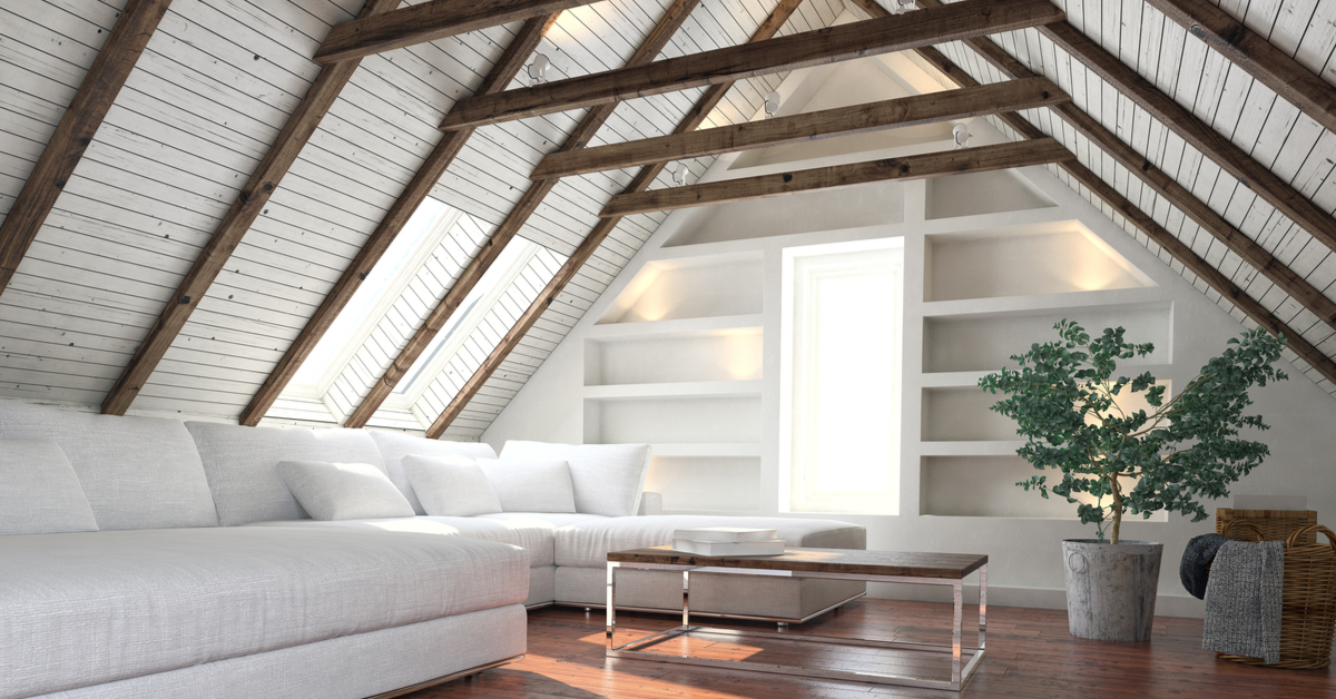 Attic Space With White Paint