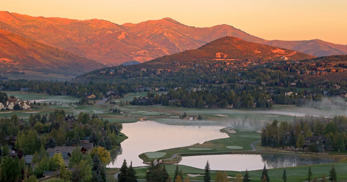Park City Golf Course In Fall